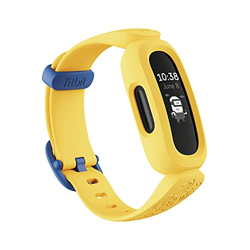 Fitbit Ace 3 Activity Tracker, Unisex-Youth, Negro/Amarillo (Minions), One Size