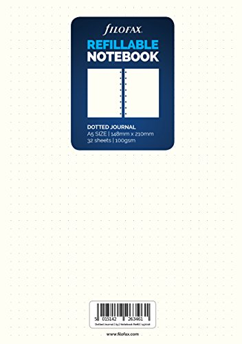 Filofax 152016 A5 Dotted Tagebuch Refill Notebook