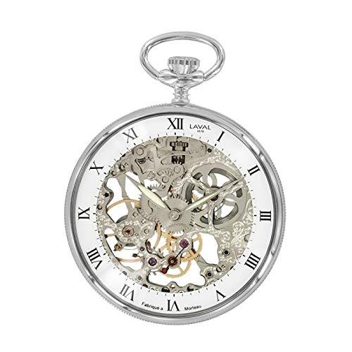 Orologio meccanico Laval 1878 e orologio scheletrato, argento