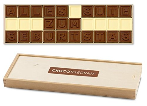 ALLES GUTE ZUM GEBURTSTAG - ChocoTelegram | besondere Schokolade | Geschenke | Geschenkidee | Frau | Mann | Frauen | Männer | Kinder | Papa | Mama | Oma | Opa