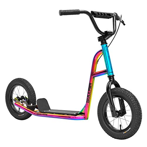 """Sullivan 12"""" Terra Firma Freestyle Scooter, Ages 7-12, Jet Fuelled Neo Chrome"""