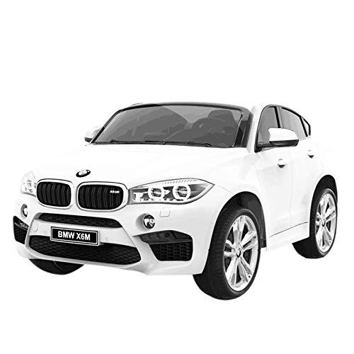 Coche eléctrico para niños BMW X6 2 plazas 12 V blanco
