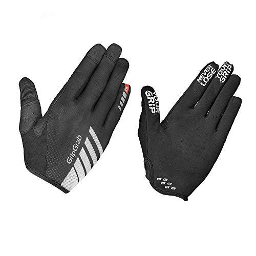 GripGrab Radsport Racing InsideGrip Langfinger Handschuh Fahrrad Sommer, Black, L