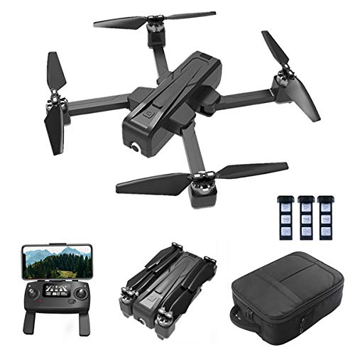 XIOAKEKE Drone with WiFi FPV 2K HD Camera, Altitude Hold, Low Battery Return, Pointing Flight, Trajectory Flight, 3D Flips, Headless Mode, One Key Operation, Best Drone for Beginners,Battery × 3