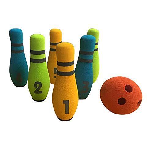 Vaxiuja-toy Juego de Bolos Juego de Bolos Juego de 6 Juegos de Bolos Coloridos 1 Bola de...