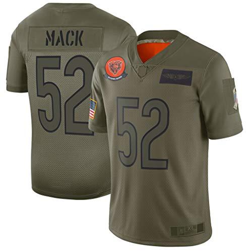 Camiseta de Entrenamiento de fútbol Americano Khalil Mack # 52 de Chicago Bears, Ropa Deportiva, Manga Corta cómoda-XL