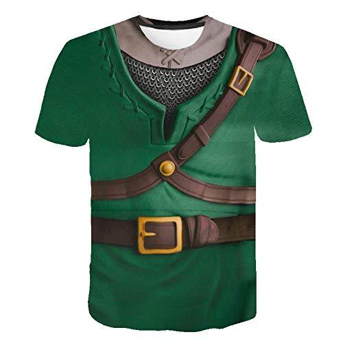 RKWEI T-shirt à manches courtes pour homme avec impression 3D armor pour femme - Style décontracté - Séchage rapide - Pour garçons et filles