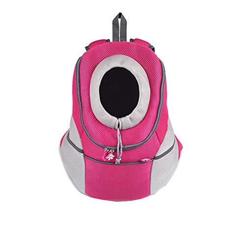 Aida Bz Pet Bag Chat Sac à Dos Teddy Out of The Cat Cage Sac de Chat Cat Bag Sac de Chat Portable boîte de Sac Fournitures,Pink