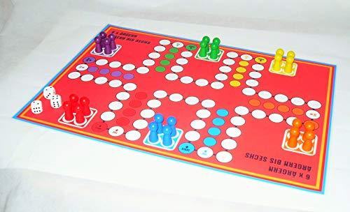 G&S Sparpreis - Ludo für bis zu 6 und 8 Personen - doppelseitiger Spielplan 2 Ludospiele A3