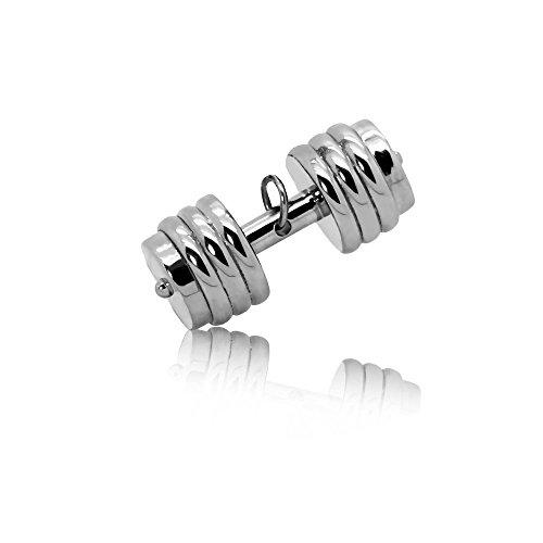 tumundo Ketten-Anhänger Hantel Gewicht Boxhandschuh Sport Fitness Edelstahl Für Halskette Königskette Herren Herrenkette Silbern, Variante:Variante 5