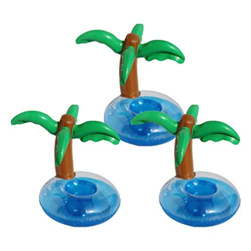 PRETYZOOM Aufblasbare Untersetzer Palme Float Getränkehalter Hawaii Party Aufblasbare Krabbe 3Pcs