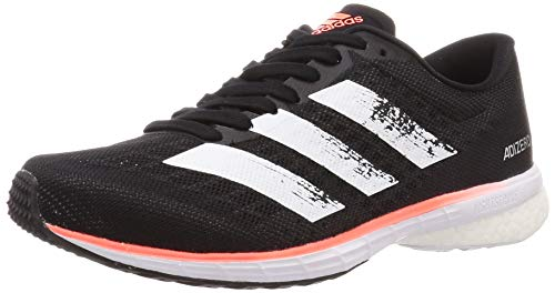 adidas Herren Adizero Adios 5 M Laufschuh, Core Black FTWR Weiss Signal Coral, 44 EU