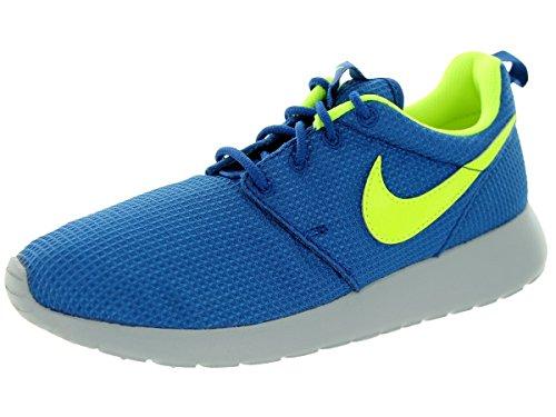 Nike Rosherun (GS) Laufschuhe gym blue-volt-wolf grey - 39