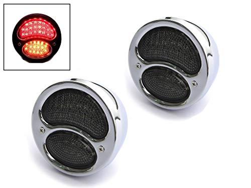 Chrome LED Feux Stop Lumières avec Clignotants - Idéal pour Voitures ou Vans