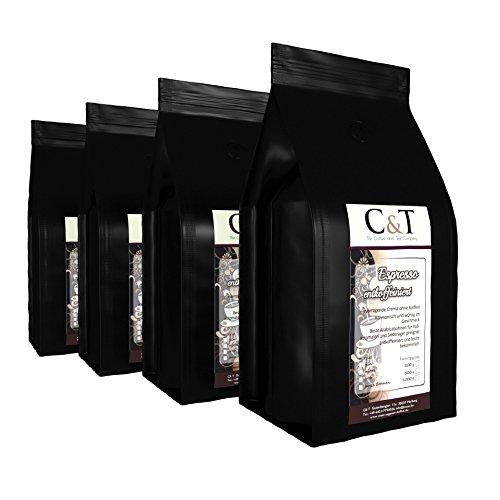 Espresso entkoffeiniert - ESPRESSO CREMA- Kaffee entcoffeiniert 4 x 500g gemahlen