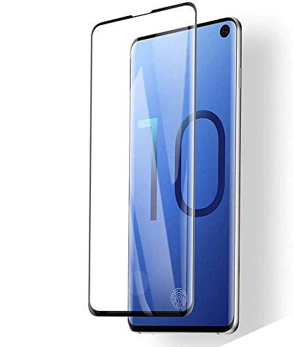 Panzerglas für Samsung Galaxy S10 (2 Stück),3D Vollständigen Abdeckung,9H Härtegrad,Anti-Kratzen,Anti-Bläschen,Hülle Freundllich,Perfekt Schutzfolie für Galaxy S10