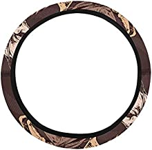 InterestPrint The Running Beautiful Horses Auto Car Steering Wrap Neoprene Automotive Steering Wheel Cover