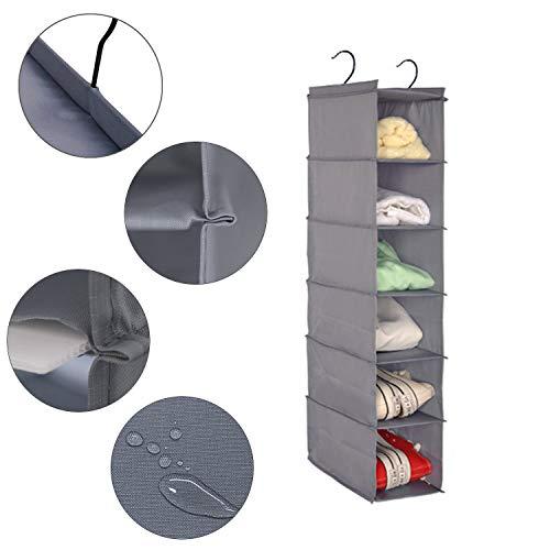 Amira 吊り下げ収納 衣類ラック 収納 クローゼット 水洗い可能 防湿防カビ 折りたたみ (6階)