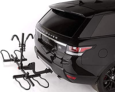 Overdrive Sport 2-Bike Hitch Mounted Rack for Standard, Fat Tire, and Electric Bicycles - Extra Heavy Weight Capacity (60 lbs/Bike) - Smart Tilting, Platform Tray Style, Anti-Wobble
