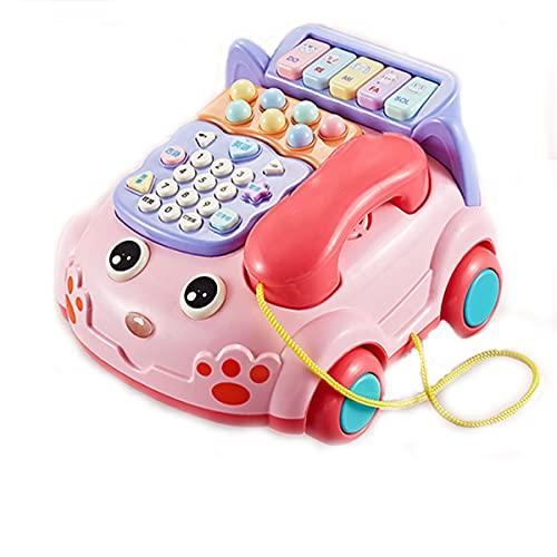 Rrunzfon Giocattoli per Bambini Giocattoli per Bambini Giocattoli per Bambini da 1 A 3 Anni Giocattoli Educativi Sviluppo della Musica Riconoscimento della Forma del Colore-Charging in Pink