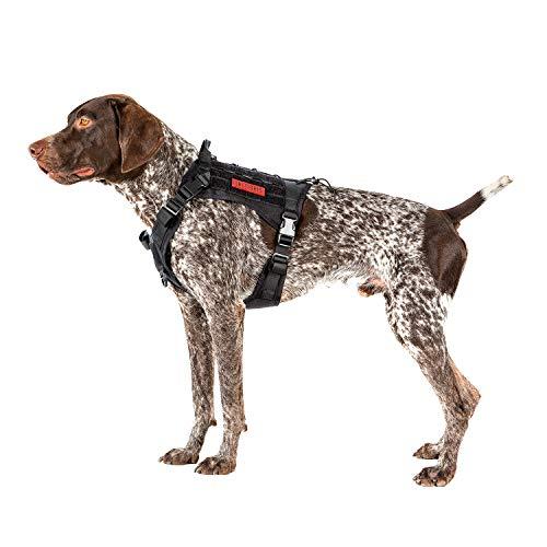 OneTigris Tactical Dog Harness - Fire Watcher Comfortable Patrol K9 Vest (Black, Medium)
