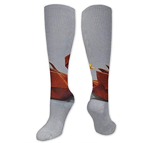 Ginger-Ale Calcetines De Compresión Swan Origami Soccer Sports Knee High Tube Calcetines Para Mujeres Y Hombres