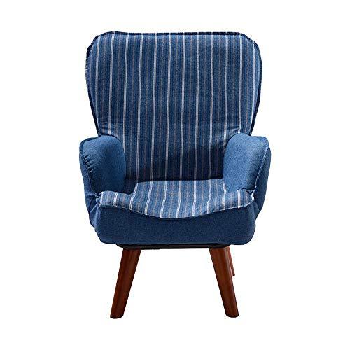 Office Life Easy Gepolsterter Bodenstuhl Kindercouch Kindersofa Gepolsterter Sessel Gepolsterter Stuhl Kleinkinderstühle Klappsofa Bodenstuhl Verstellbarer Rückenlehnenstuhl (Farbe: Blau, Größe: 60