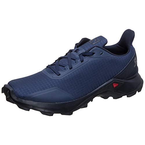 Salomon Men's ALPHACROSS Trail Running Shoe, Sargasso Sea/Navy Blazer/India Ink, 10