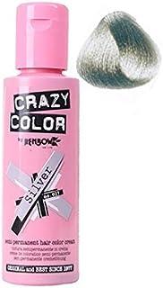 Crazy Color Semi Permanent Hair Dye - Silver