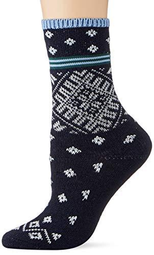 ESPRIT Damen Norwegian Strip W SO Socken, blau (storm 6340), 35-38 (UK 2.5-5 Ι US 5-7.5)