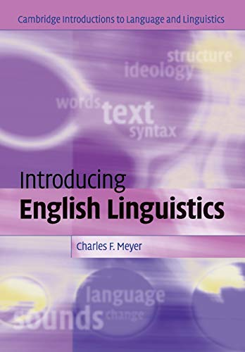 Introducing English Linguistics (Cambridge Introductions to Language and Linguistics)