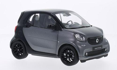 Smart Fortwo, schwarz/metallic-dunkelgrau, 2014, Modellauto, Fertigmodell, I-Norev 1:18
