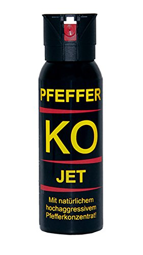 BALLISTOL - Profi Pfefferspray KO-Jet - Inhalt: 100 ml - Sprühweite: bis zu 5 Metern - Ideal für geschlossene Räume 2er Set