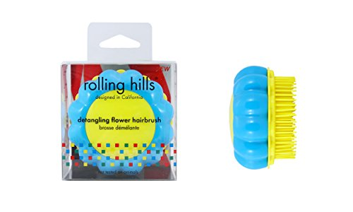 ROLLING HILLS - Detangling Flower Brush Blue-Yellow