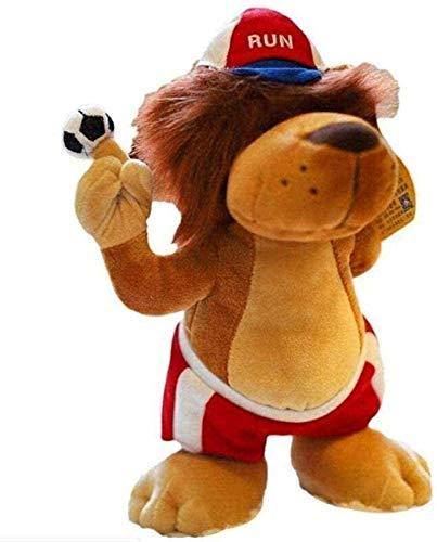 SongJX-Love Big-Beiniger Löwe Plüschtier Fußball-Spieler-Souvenir-Kind-Abschlussgeschenk Kinderspielzeug 28cm Gzzxw