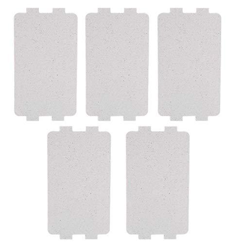 JAP768 5 stücke Mikrowellenherde Mica Plate 116 * 64 mm Universal Mikrowellen Toaster Haartrockner Glimmerplatten Blätter for MIDEA-Teile Zubehör