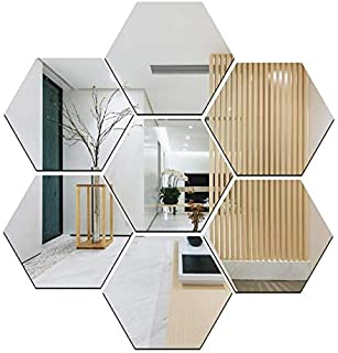 Atulya Arts - Offering 3D Large Hexagon Acrylic Stickers (Pack of 7) with 10 Butterfly Acrylic Mirror Wall Stickers for Ho...