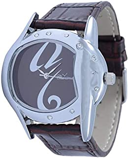 Charisma Unisex Brown Dial Leather Band Watch [C5517A]