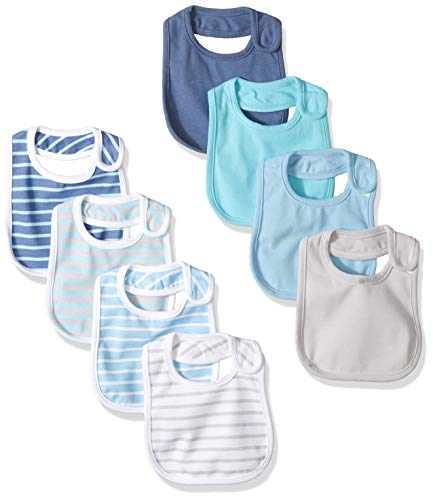 Hanes Ultimate Baby Flexy 8 Pack Bibs Blues NO SIZE