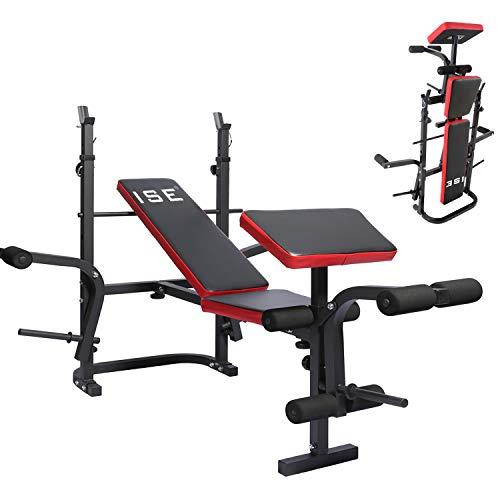 Questa stazione di allenamento multifunzionale SY-5430B come dispositivo semi-professionale per l'allenamento della forza è in grado di allenare la parte superiore e inferiore del corpo. Attraverso vari corsi di formazione, come squat, bench press, s...