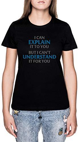 Ingegneri Motto Gergo Capire Esso per Tu Nero Maglietta T-Shirt Donna Maniche Corte Black T-Shirt Women's