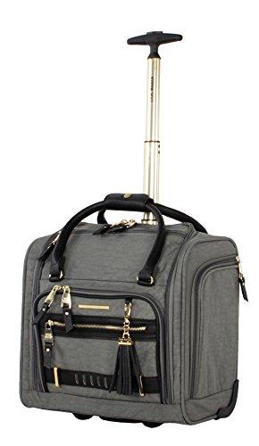 Steve Madden Luggage Wheeled Suitcase Under Seat Bag (Peek-A-Boo Grey)