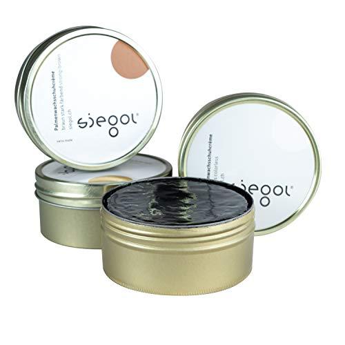 SIEGOL® Palmenwachsschuhcrème 150 ml - Siegol Schuhcrème Nr. 3 - Hartwachs (schwarz)