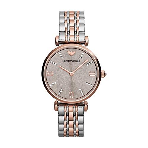 Emporio Armani Damen Analog Quarz Uhr mit Edelstahl Armband AR1840