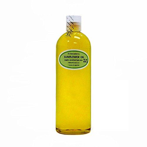 Aceite de girasol sin refinar orgánico de alta oleicidad 100% puro 16 oz/1 pinta