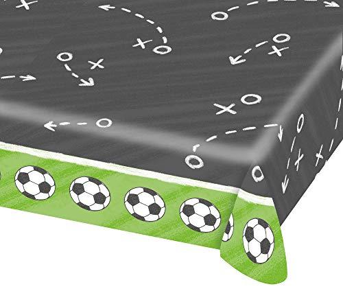 Mantel de papel * Balones de Fútbol * para WM 2018de fiesta o cumpleaños infantiles//EM Party Fiesta temática Cumpleaños Soccer Table Cover