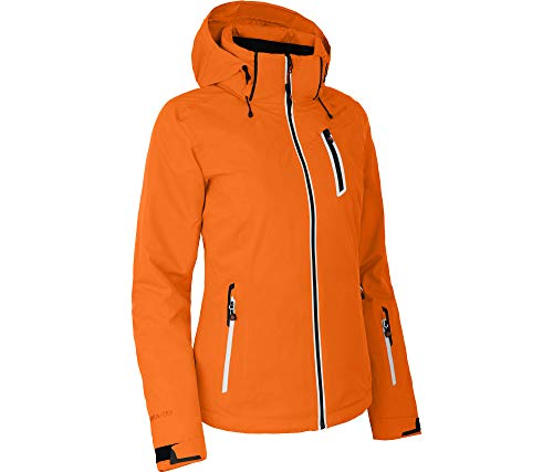 Bergson Damen Skijacke Nice, Persimmon orange [513], 46 - Damen