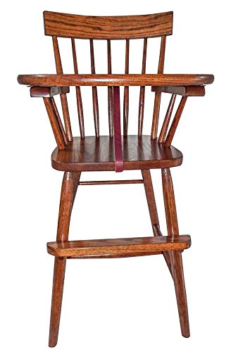 Buy Allamishfurniture MMW Child HIGH Chair Oak COMBACK Finished Choice of Stain
