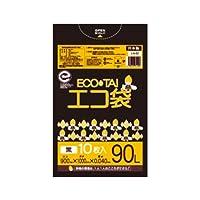 サンキョウプラテック エコ袋 90L 0.040厚 黒 10枚入×30冊 LN-92