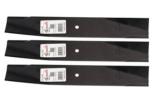 """Set of 3, 25034 25034R 122265 532122265 106635X Made In USA Replacement Blade, 44"""" Deck, Craftsman, Poulan, Ayp, Roper."""